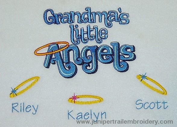 Grandma's little angels embroidered sweatshirt