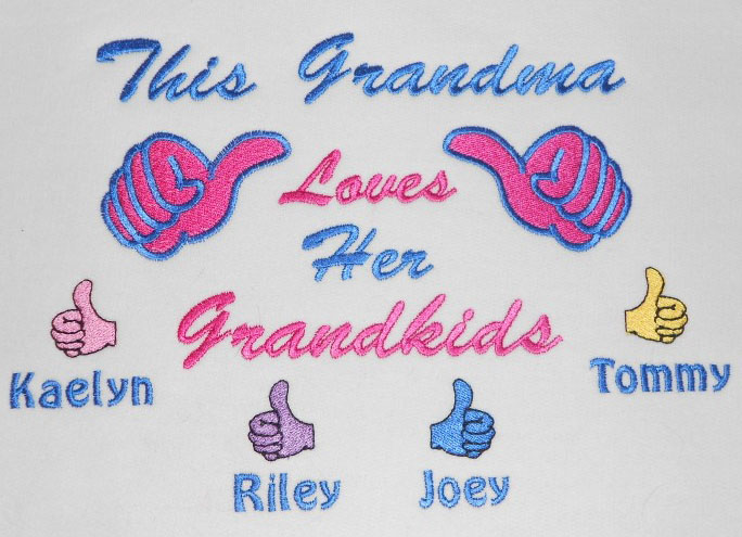 This grandpa loves his grandkids embroidered tee shirt