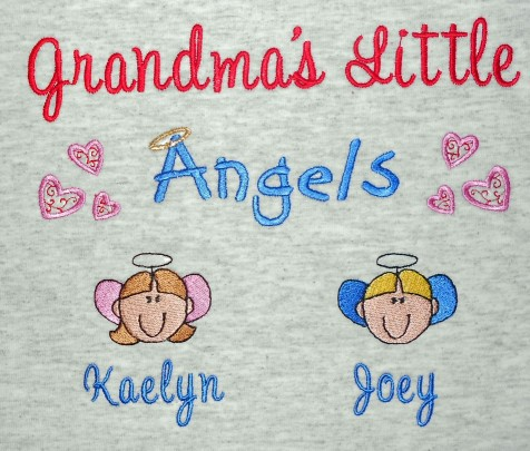 Grandma's angels embroidered sweatshirt style 2