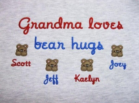 Grandma loves bear hugs sweatshirt personalized