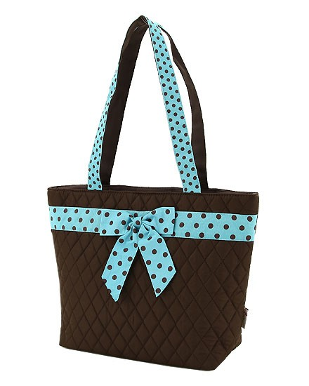 Polka dots bags quilted fashion tote