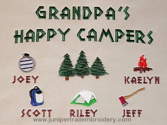 Grandpa's Happy Campers Embroidered Sweatshirt
