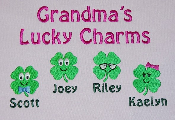 Grandma's Lucky Charms Sweatshirt-Shamrock Design