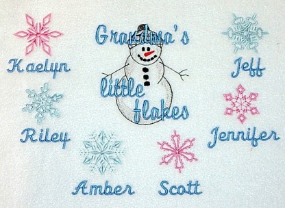 Grandma's Little Flakes Embroidered Sweatshirt