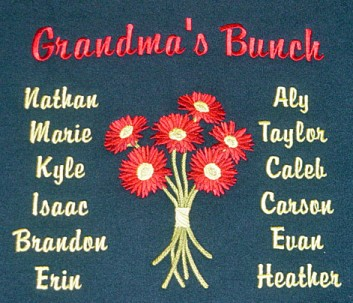 Gerbera daisy bunch grandmother sweatshirt