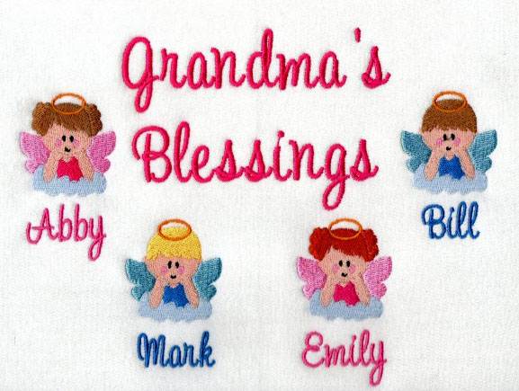 Grandma's blessings embroidered sweatshirt