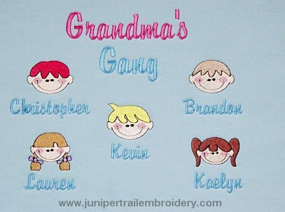 Grandma's Gang Tee shirt-Sweet faces