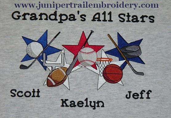 Grandpa's All Stars sweatshirt