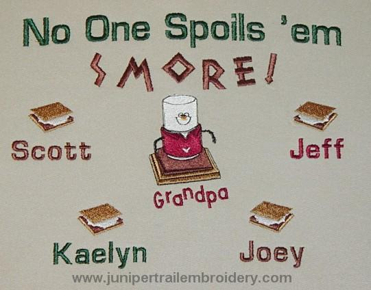 No one spoils 'em Smore Grandpa Tee shirt
