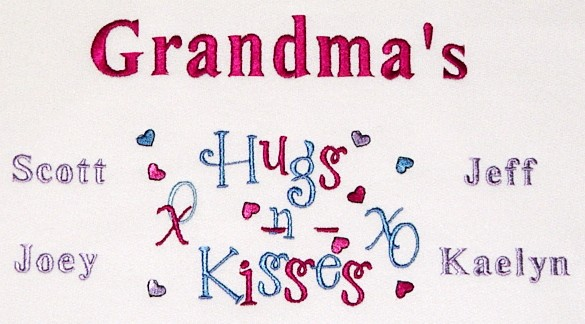 Grandma's hugs and kisses tee shirt