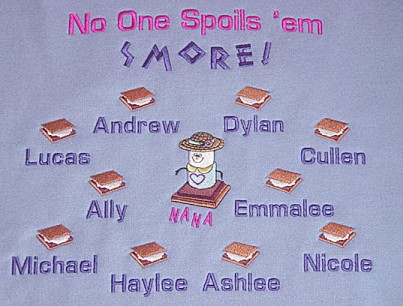 No one spoils 'em Smore Grandma Tee shirt