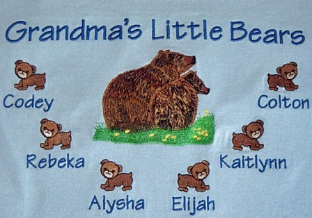 Grandma's little bears tee shirt