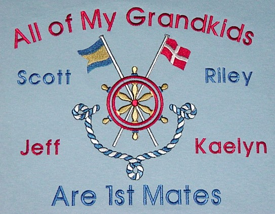Embroidered sweatshirt-Grandpa's First Mates