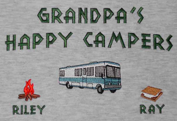 Grandpa's happy campers sweatshirt-motor home