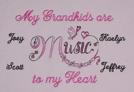 Music to my heart grandma sweatshirt