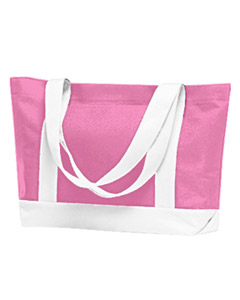 Large tote bags with contrasting handles and trim-personalized