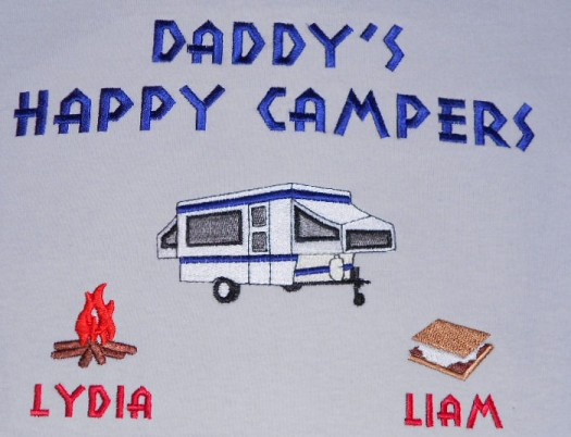 Grandpa's happy campers-pop up trailer tee shirt