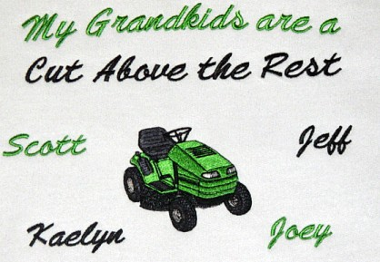 Riding mower grandpa tee shirt