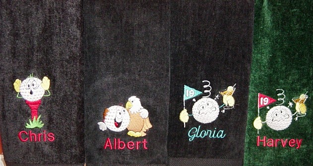 Custom embroidered Goofy golf towels
