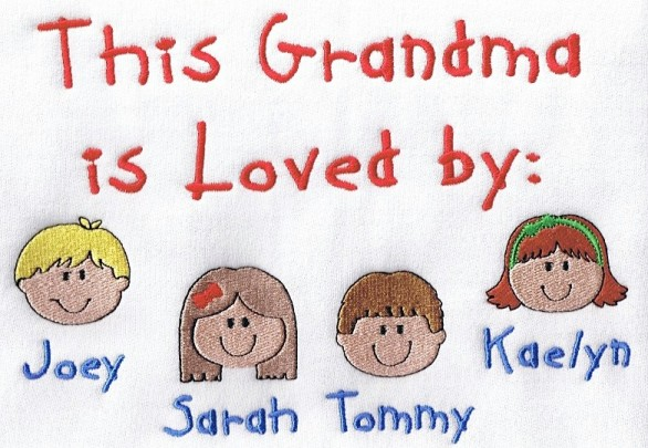 This grandma is loved by embroidered tee shirt