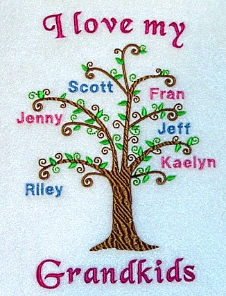 Grandma's Family Tree sweatshirt-8 names included