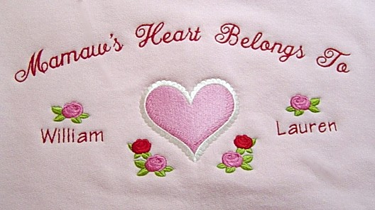 Valentine Style Grandma's Heart Belong to Tee shirt