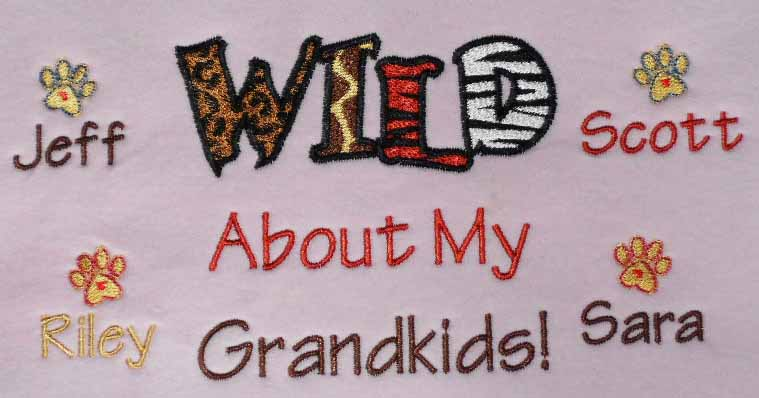 Wild about my grandkids tee shirt for grandma