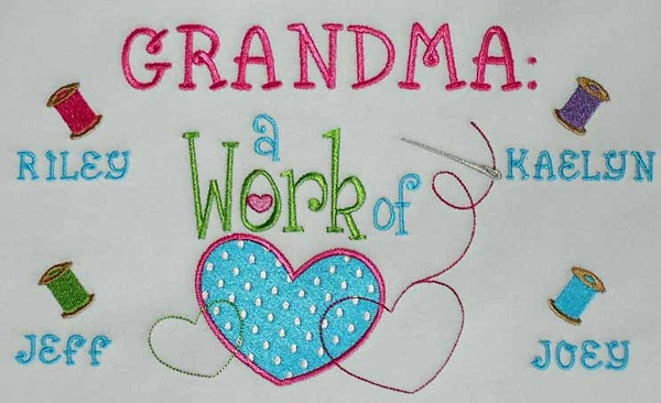 Work of heart grandma tee shirt