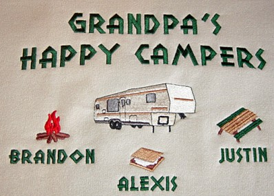 Grandpa's happy campers tee shirt-5th wheel design