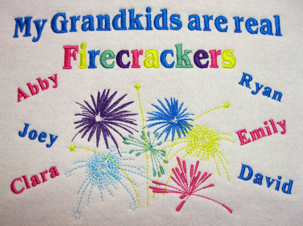 Grandkids are firecrackers sweatshirt
