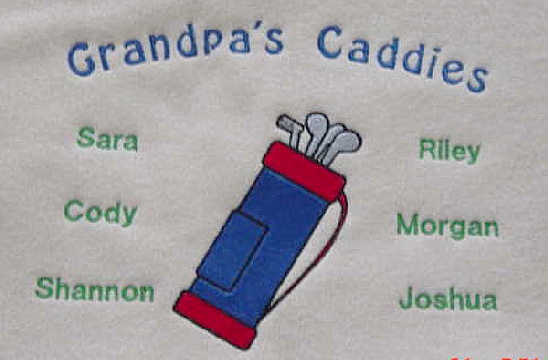 Grandpa's Caddies Tee shirt-Golfing design