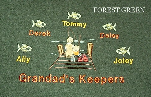 Grandpa's Keepers Tee shirt-Fishing design