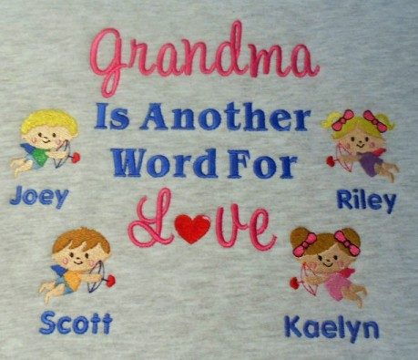 Cupid grandma personalized sweatshirt