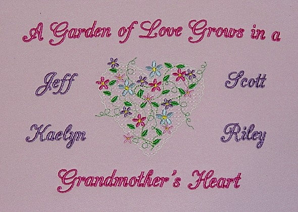Garden of Love in Grandmother's Heart Tee shirt