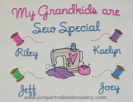 My Grandkids are Sew Special tee shirt