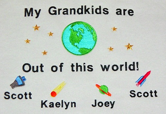 My grandkids are out of this world grandma tee shirt-outer space