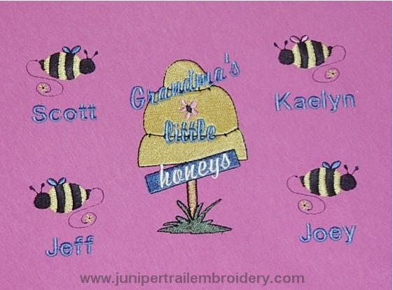 Grandma's Little Honeys Tee shirt-cute hive and bee design