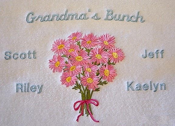 Grandma's Bunch Tee shirt-Bouquet of Flowers