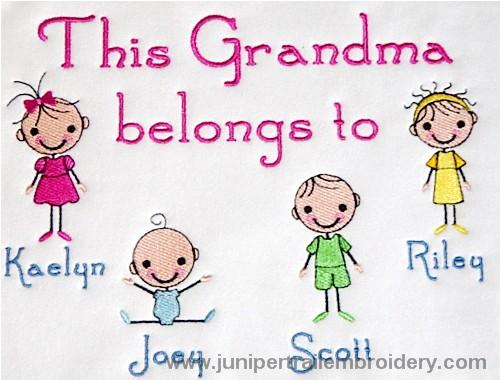 This Grandma belongs to tee shirt-Cute stick figures