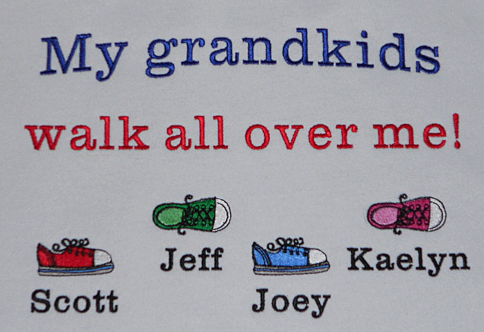 Grandpa sweatshirt-my grandkids walk all over me