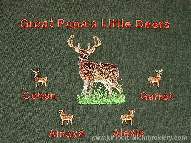 Grandpa's Little Deers Tee shirt