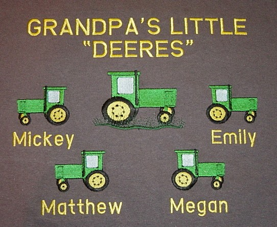 Grandpa's Little Deeres sweatshirt-Tractor design