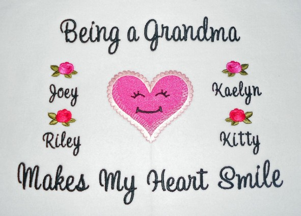 Being a Grandama makes my heart smile tee shirt