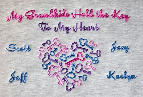 Keys to Grandma's Heart tee shirt