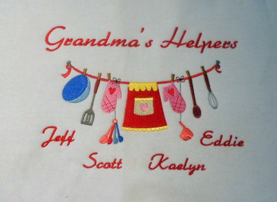 Grandma's kitchen helpers embroidered sweatshirt