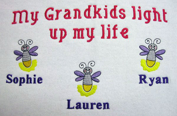 Light up my life with grandkids sweatshirt