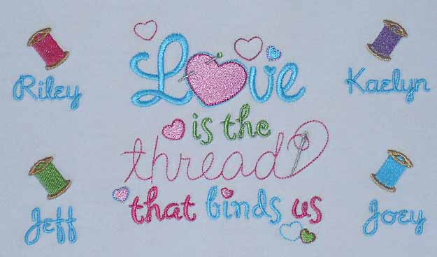 Love is the thread-embroidered grandma tee shirt