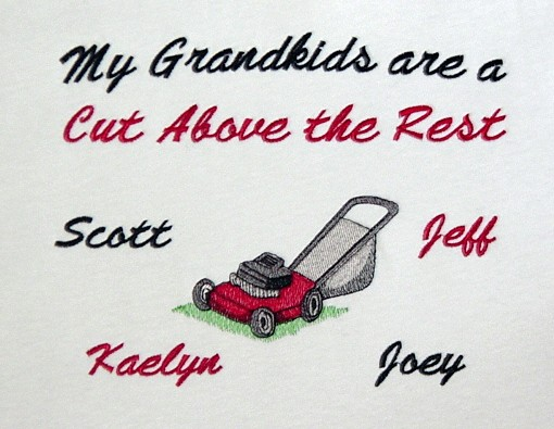 Grandma lawn mower personalized tee shirt