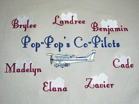 Grandpa's Co-pilots Tee shirt