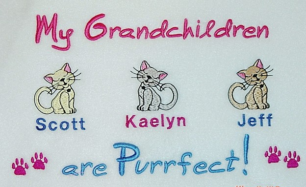 My Grandkids are Purrfect Tee shirt- Sweet kitties